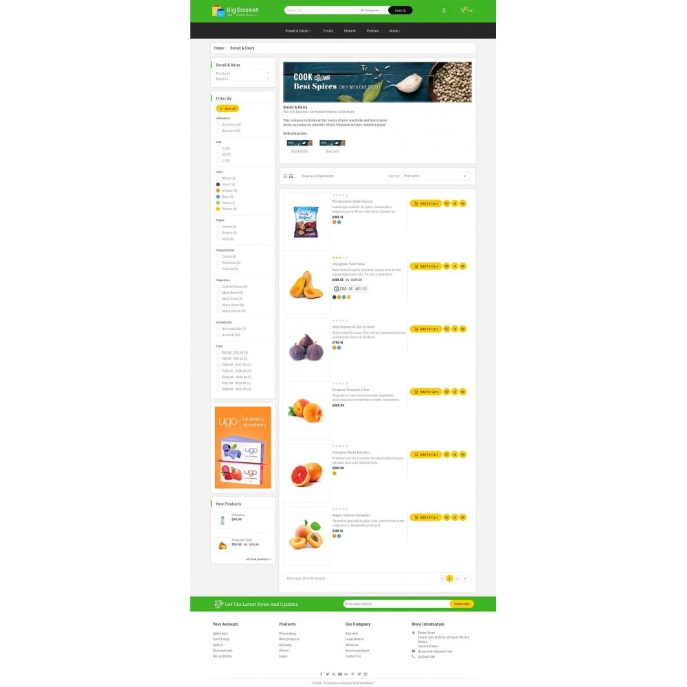 theme - Alimentation & Restauration - Big Basket Mega Grocery - 5