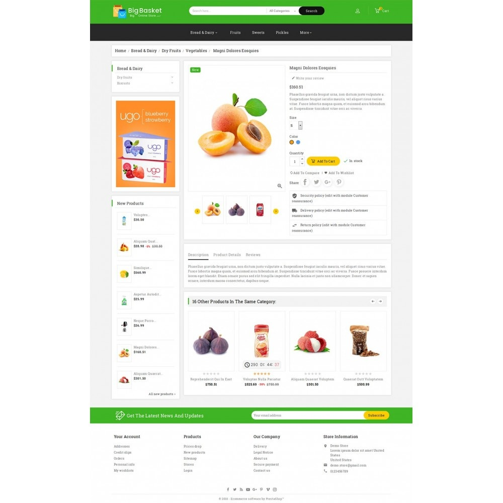 theme - Alimentation & Restauration - Big Basket Mega Grocery - 6