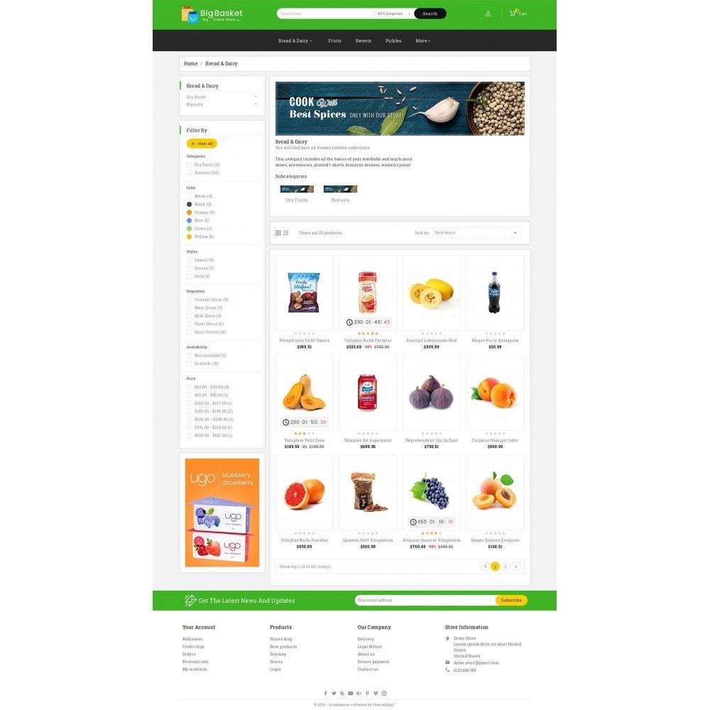 theme - Gastronomía y Restauración - Big Basket Mega Grocery - 4