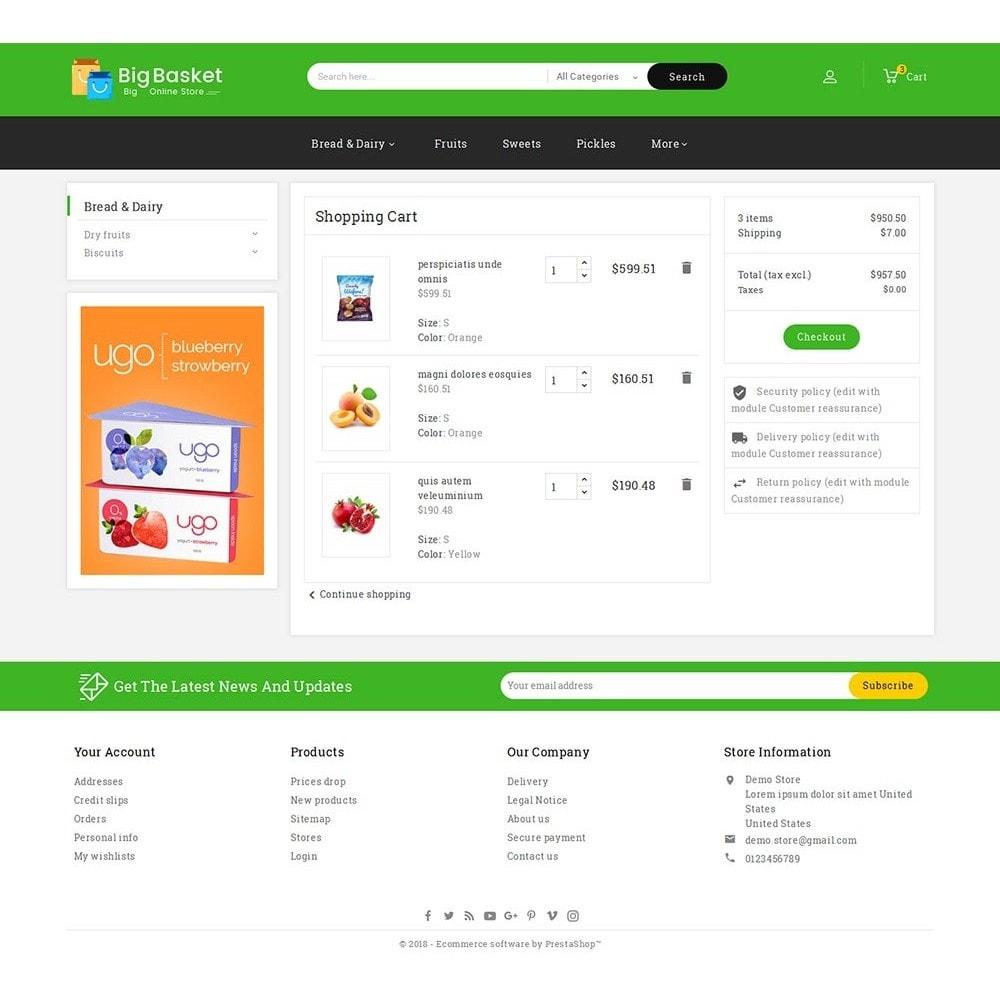 theme - Gastronomía y Restauración - Big Basket Mega Grocery - 7