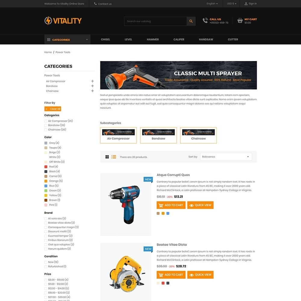 theme - Coches y Motos - Vitality - Tools Online Store - 4