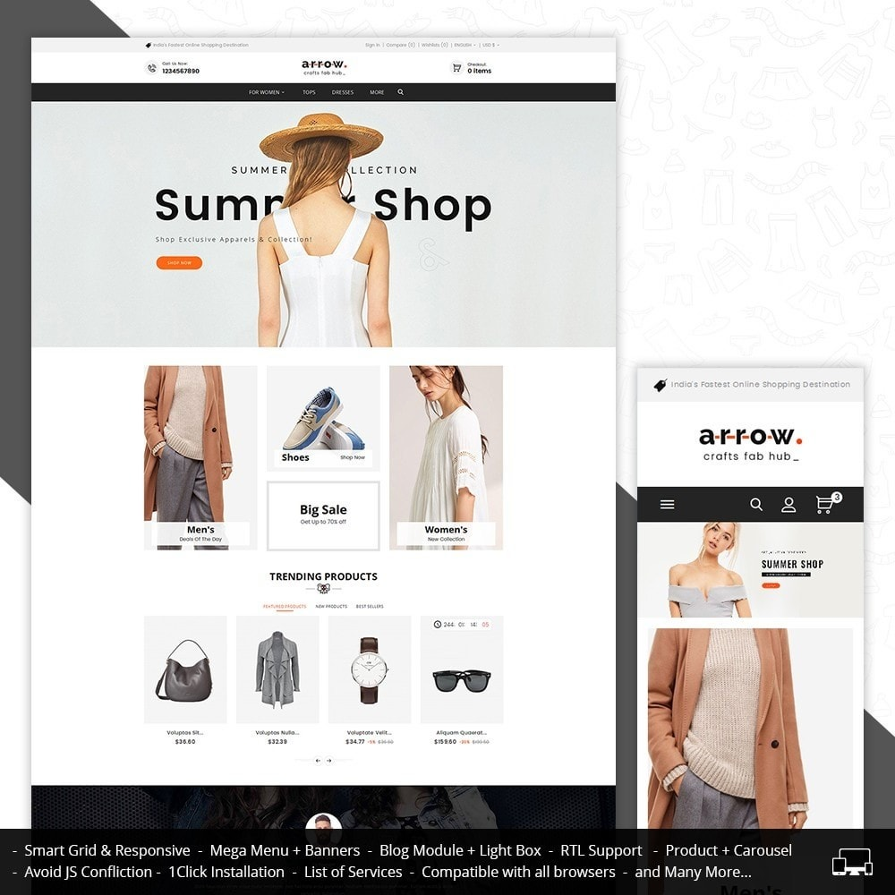 theme - Mode & Chaussures - Arrow Fashion Apparels - 2