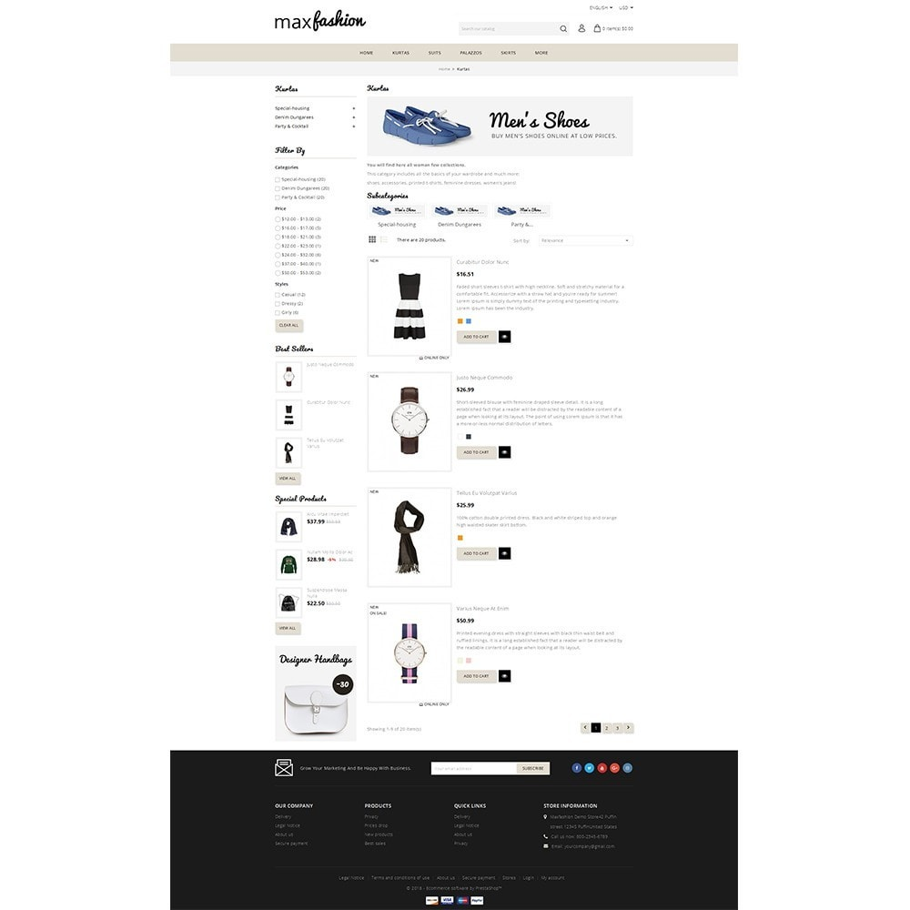 theme - Mode & Chaussures - MaxFashion Demo Store - 4