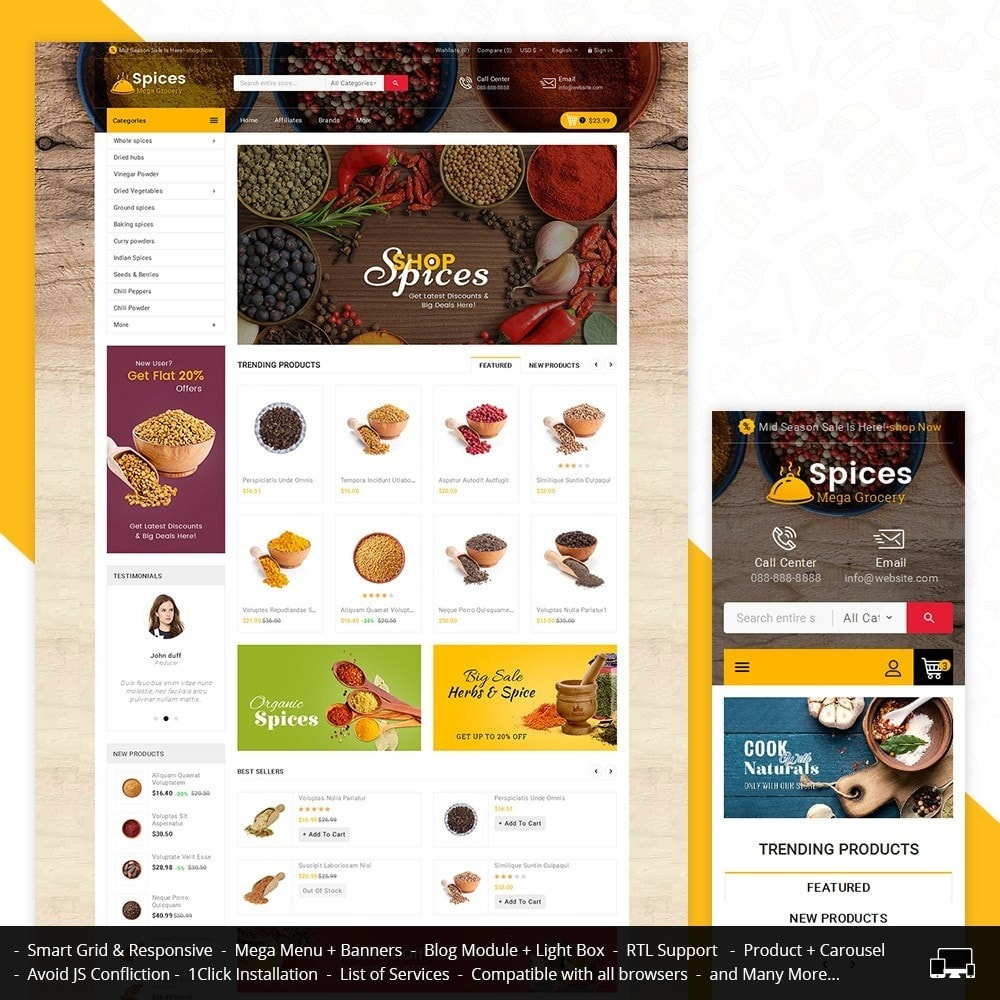 theme - Alimentation & Restauration - Spices Mega Store - 2