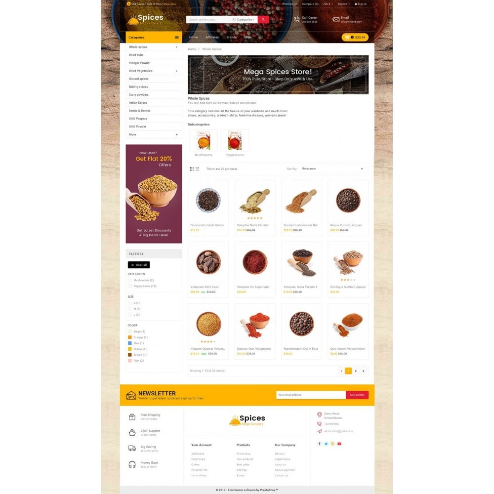 theme - Alimentation & Restauration - Spices Mega Store - 4