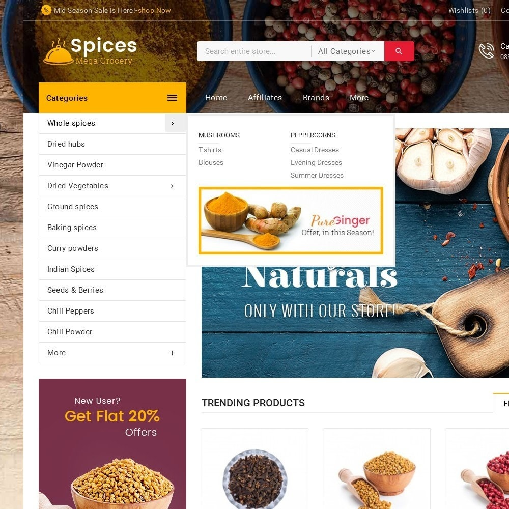 theme - Alimentation & Restauration - Spices Mega Store - 10