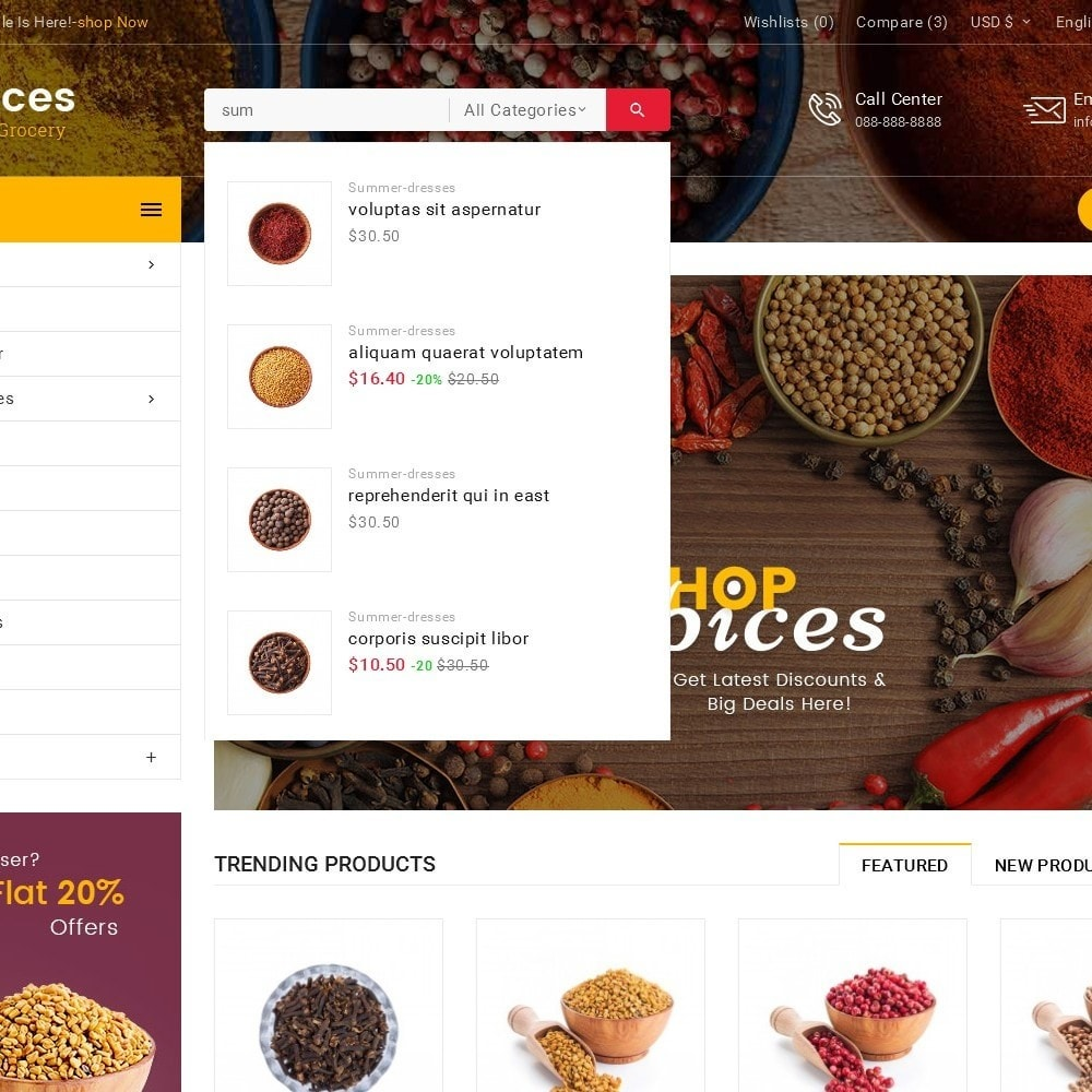 theme - Lebensmittel & Restaurants - Spices Mega Store - 11
