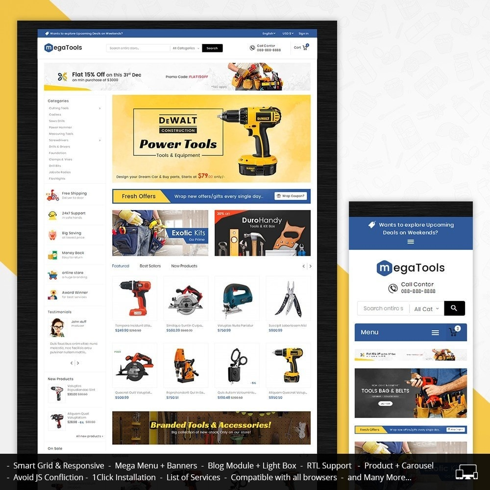 theme - Elettronica & High Tech - Mega Tools Store - 2