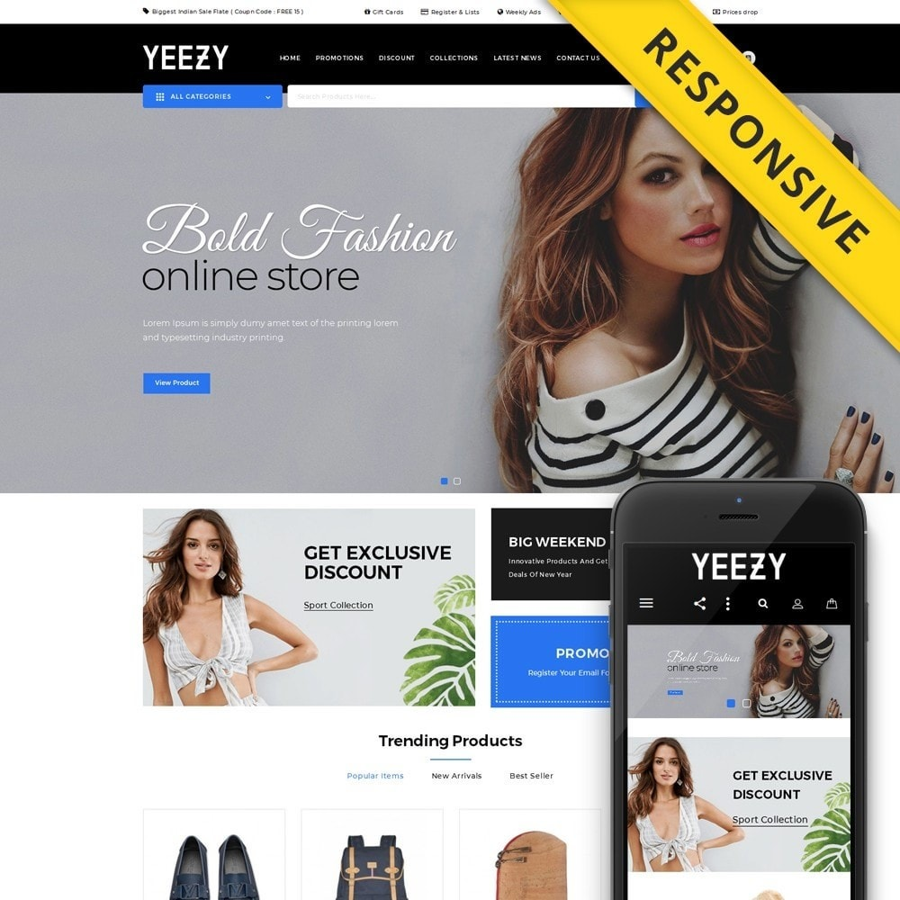 theme - Mode & Schuhe - Yeezy Fashion Accessories Store - 1