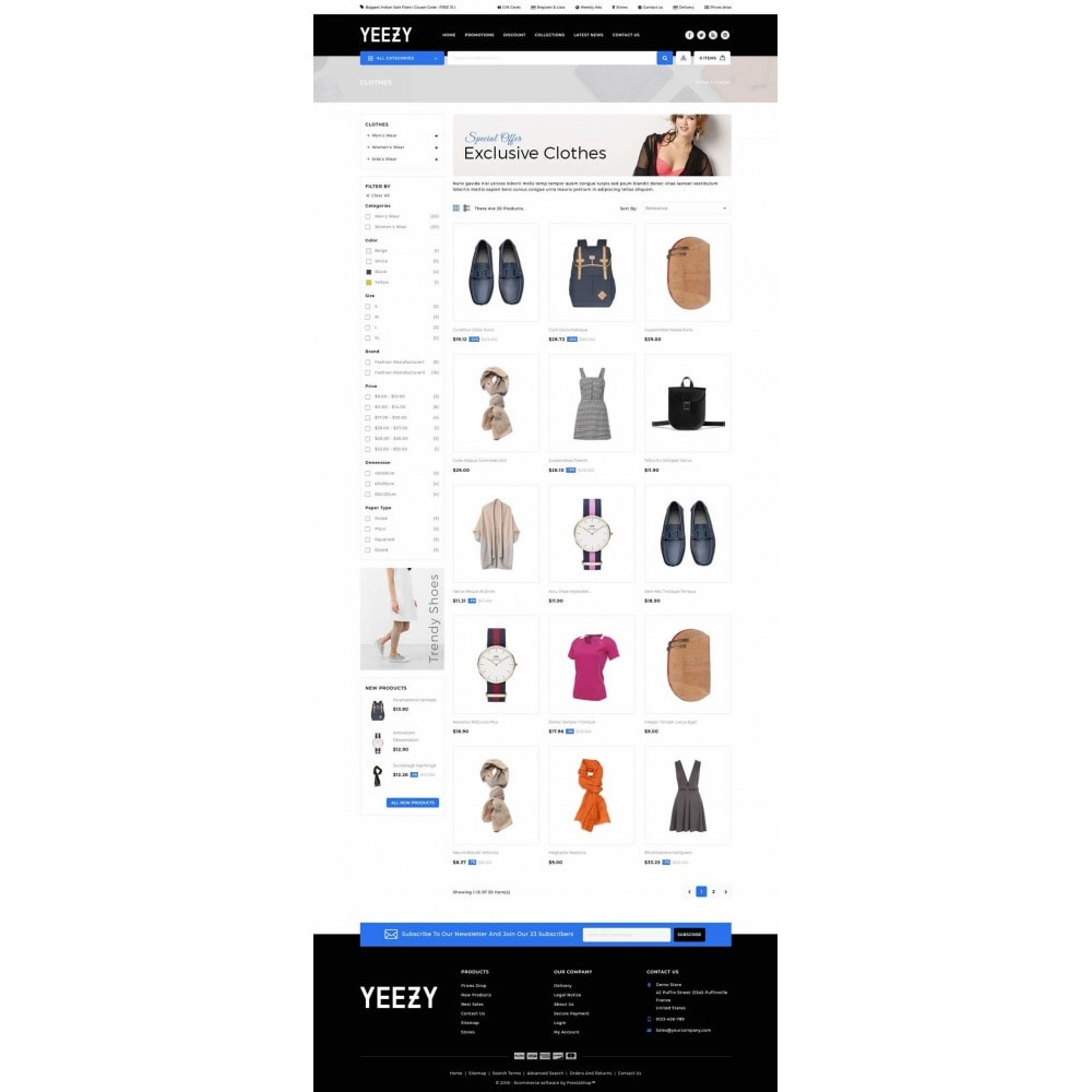 theme - Mode & Schuhe - Yeezy Fashion Accessories Store - 3