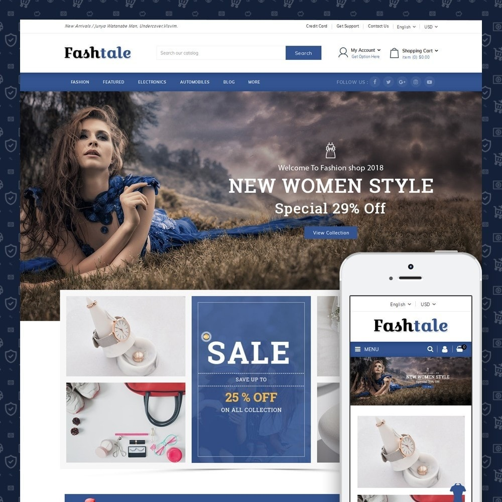 theme - Mode & Chaussures - Fashtale - Apparel Store - 1