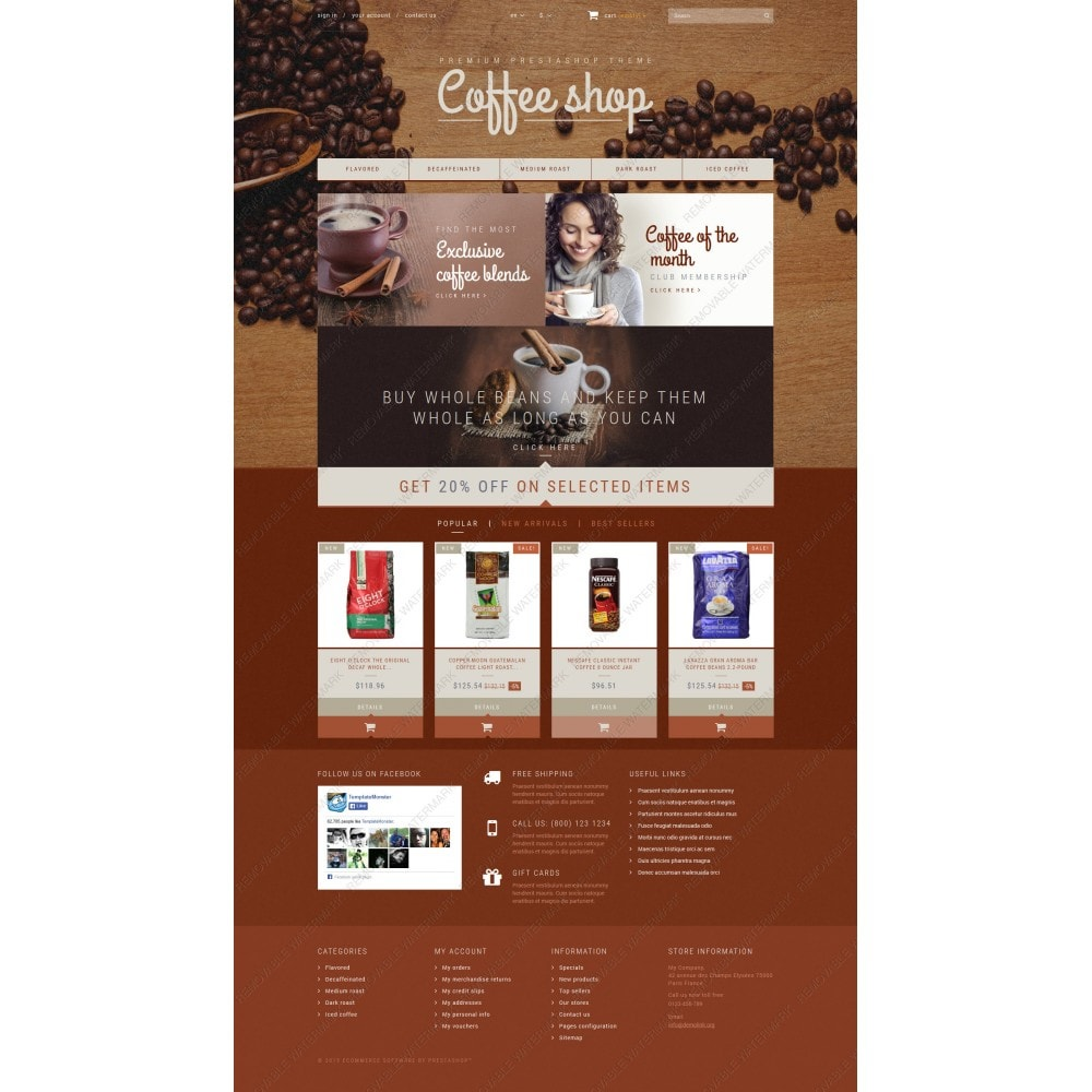theme - Food & Restaurant - Coffee Aroma - 3