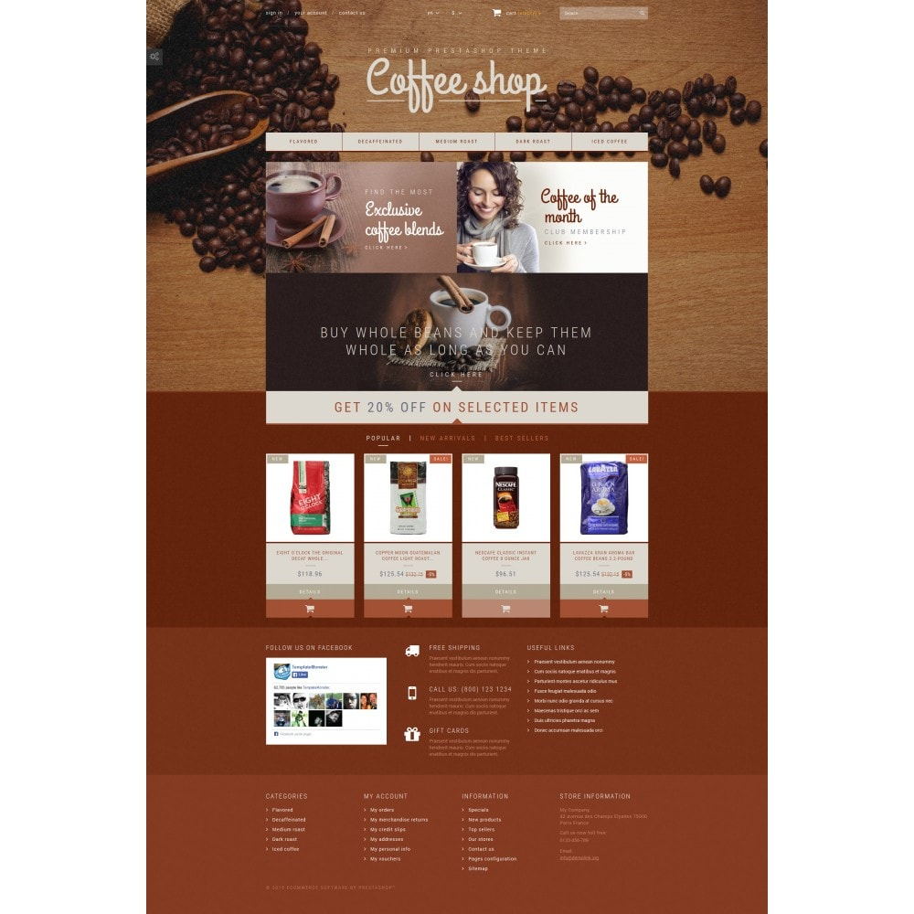 theme - Food & Restaurant - Coffee Aroma - 4