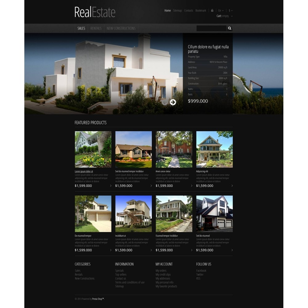 theme - PrestaShop Szablony - Responsive Real Estate Store - 4