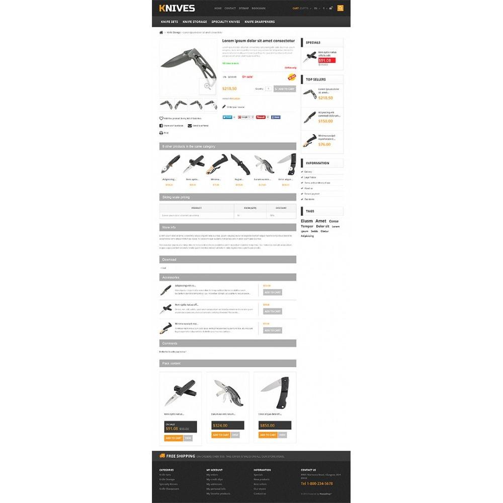 theme - PrestaShop Templates - Responsive Knives Store - 6