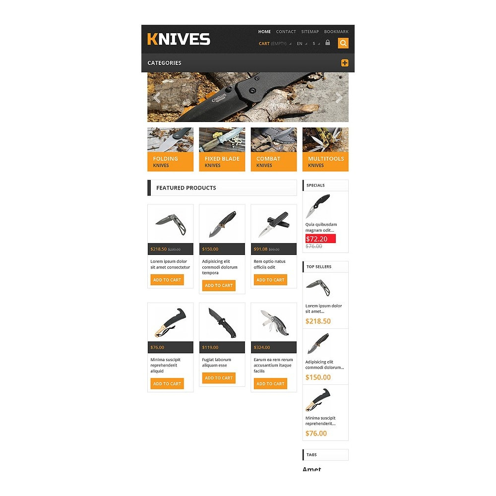 theme - Template PrestaShop - Responsive Knives Store - 7
