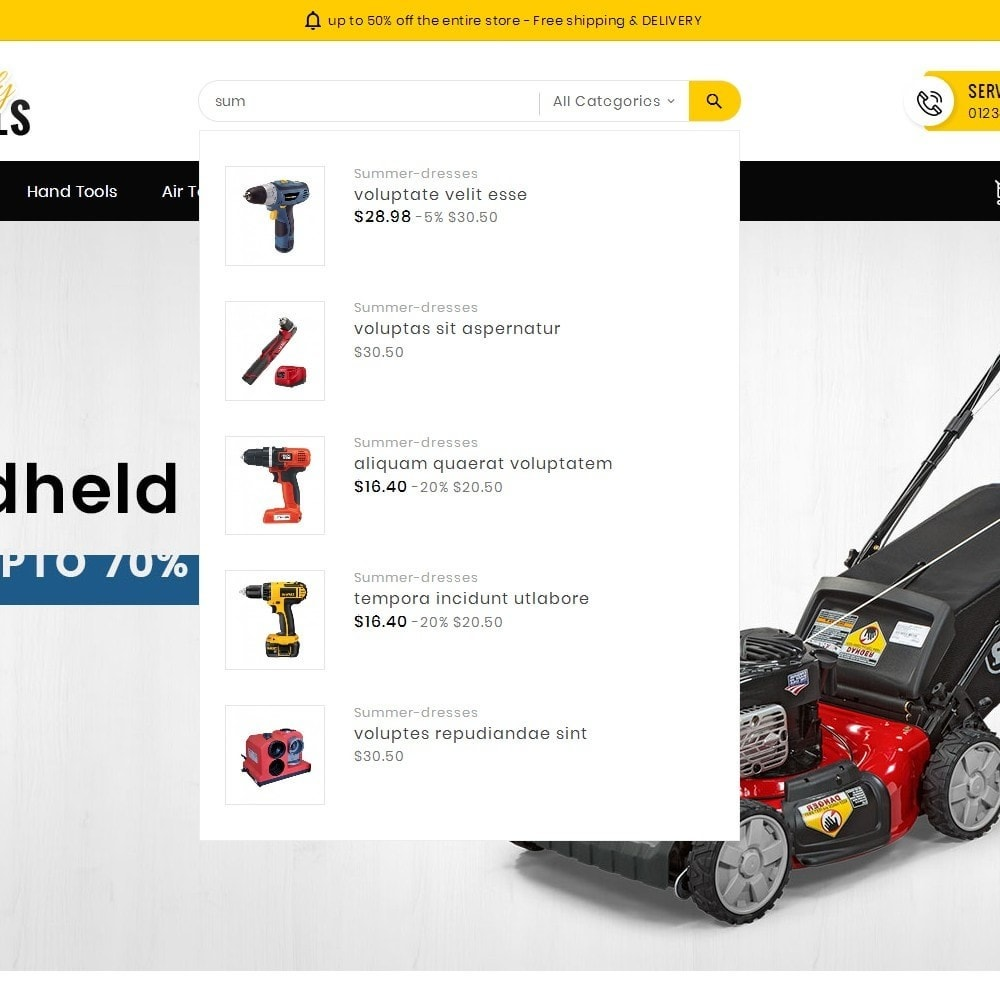 theme - Elektronik & High Tech - Handy Tools Store - 11