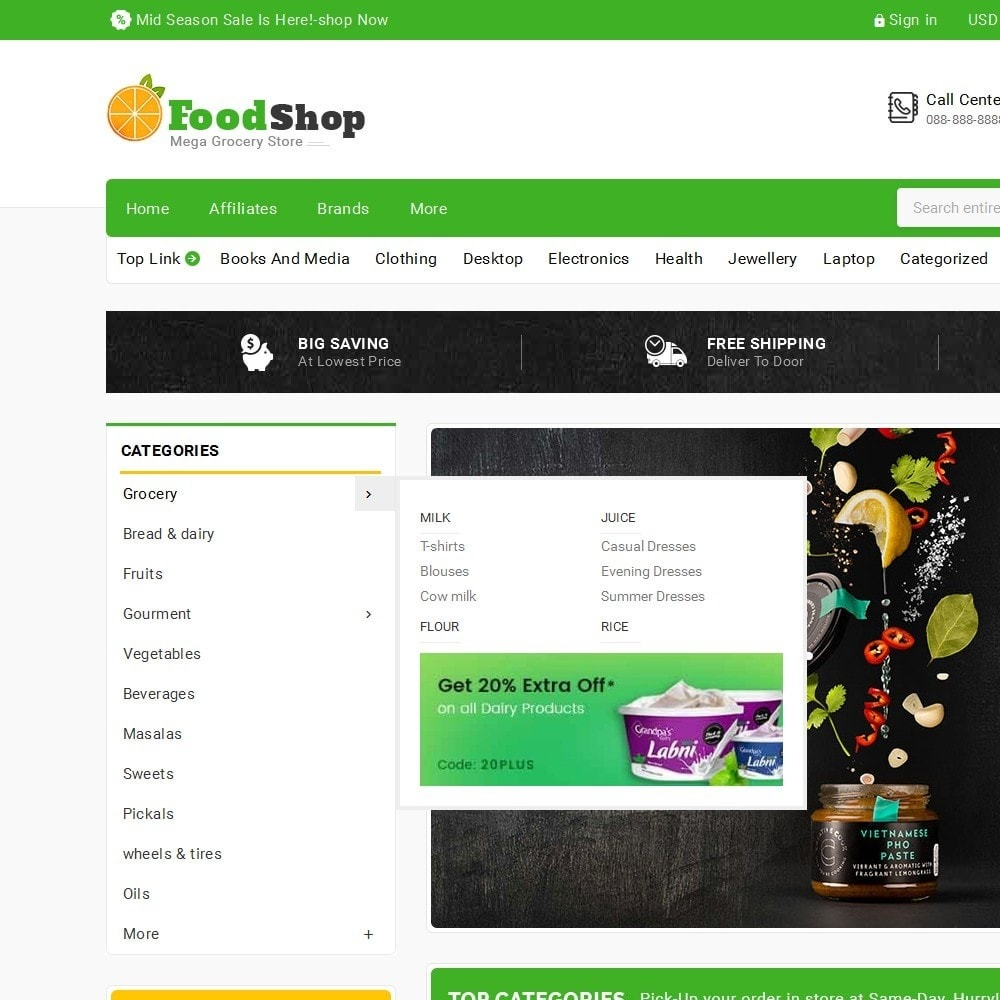 theme - Lebensmittel & Restaurants - Grocery Food Mega Store - 10