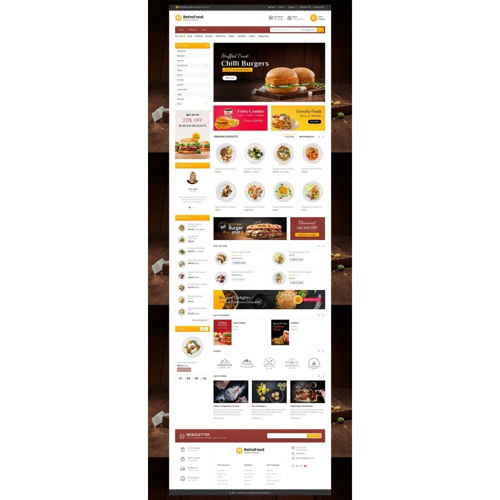 theme - Lebensmittel & Restaurants - Fast Foods Mega Store - 3