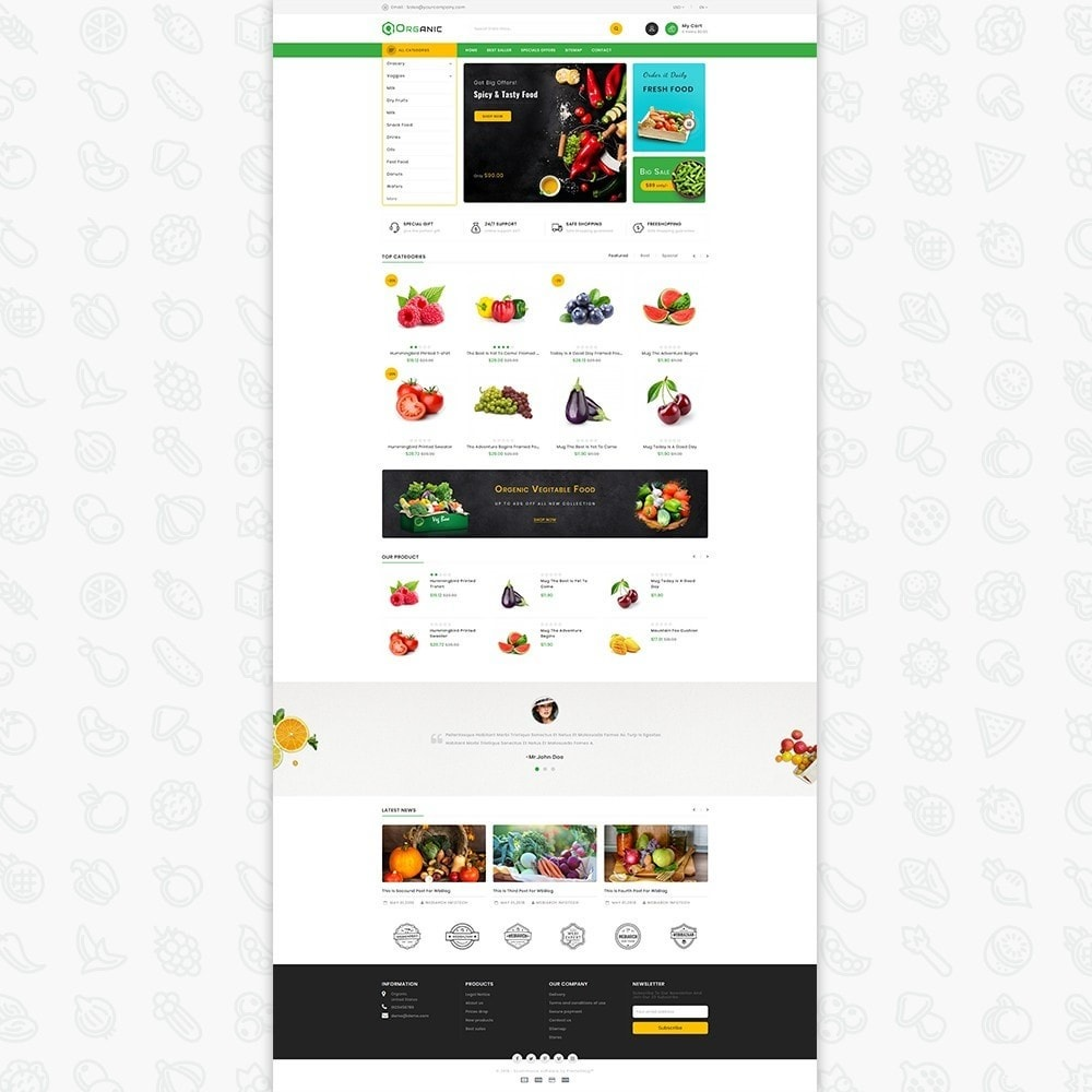 theme - Food & Restaurant - Organic Food - The Food - 2