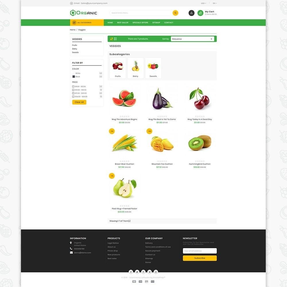 theme - Gastronomía y Restauración - Organic Food - The Food - 3