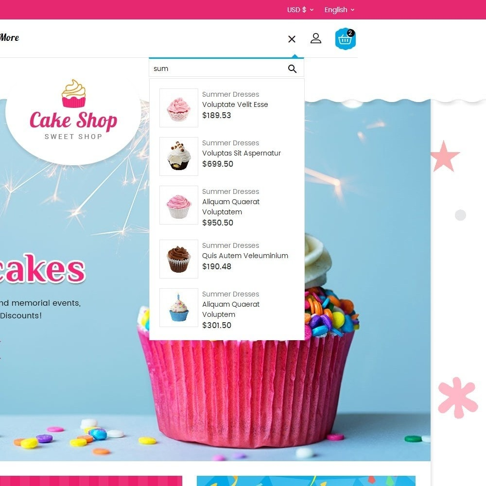 theme - Alimentation & Restauration - Cake Shop - 11