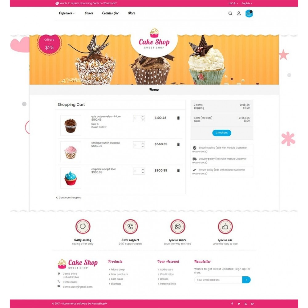 theme - Gastronomía y Restauración - Cake Shop - 7