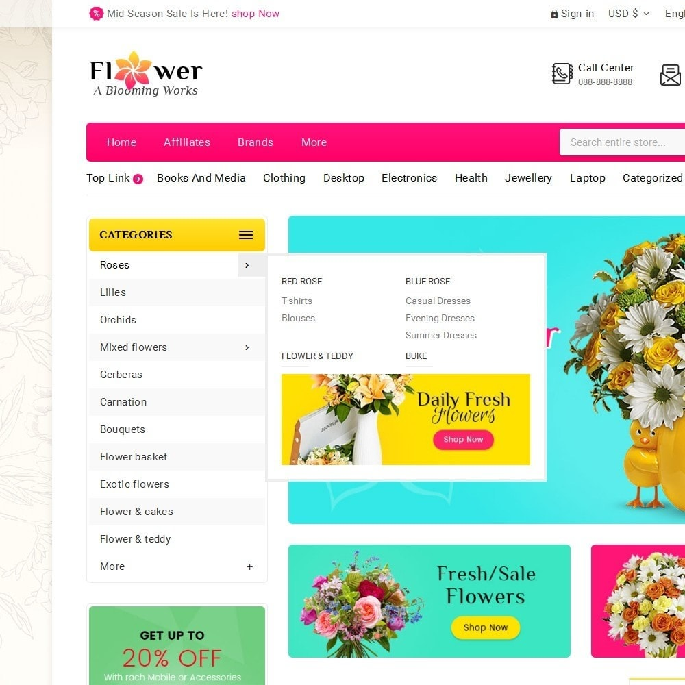 theme - Regalos, Flores y Celebraciones - Blooming Flower Mega Store - 10