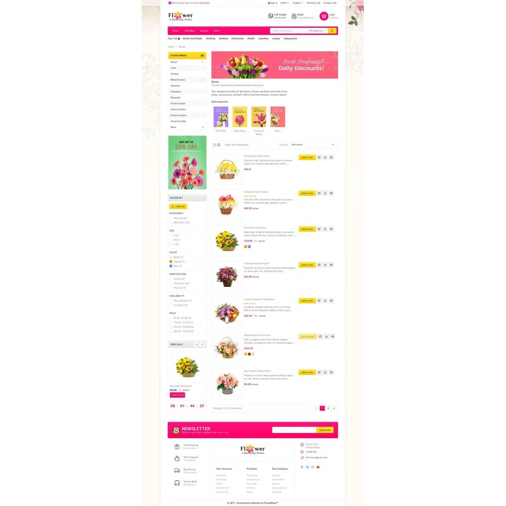 theme - Regali, Fiori & Feste - Blooming Flower Mega Store - 5