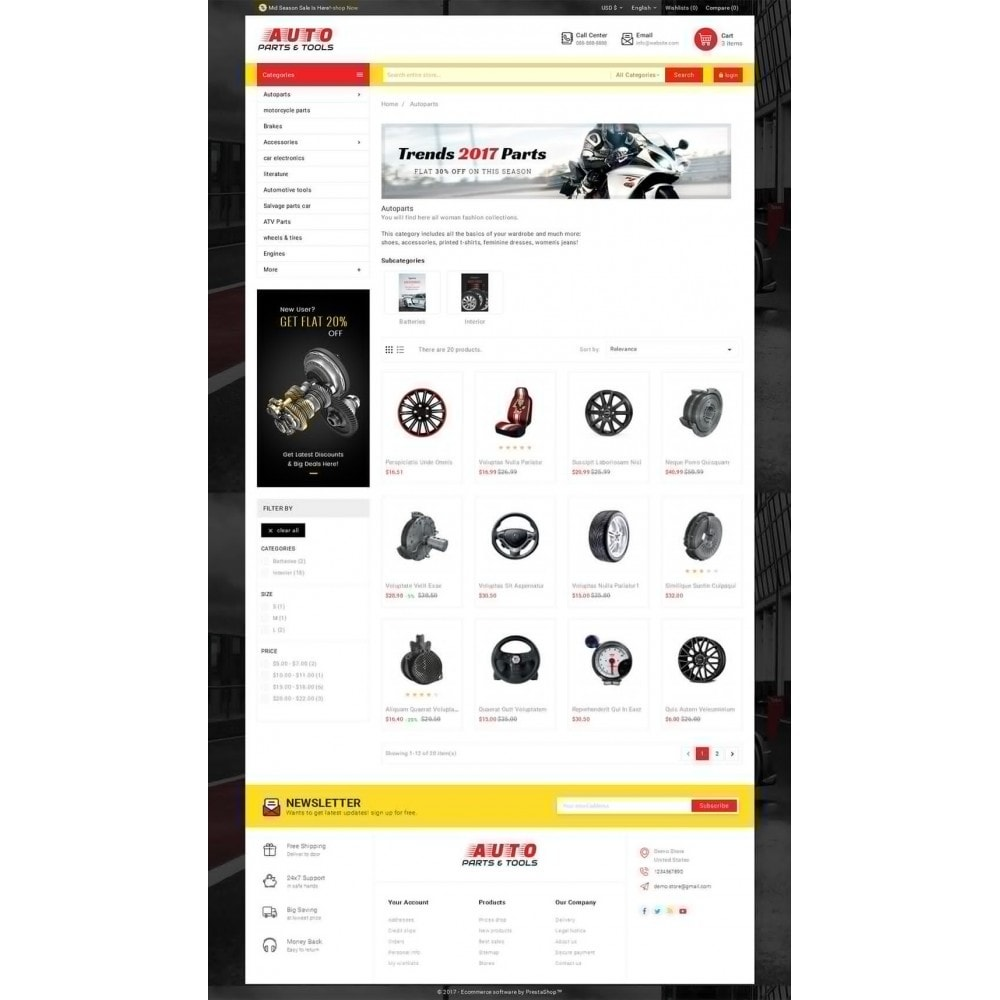 theme - Coches y Motos - Auto Parts Mega Store - 4