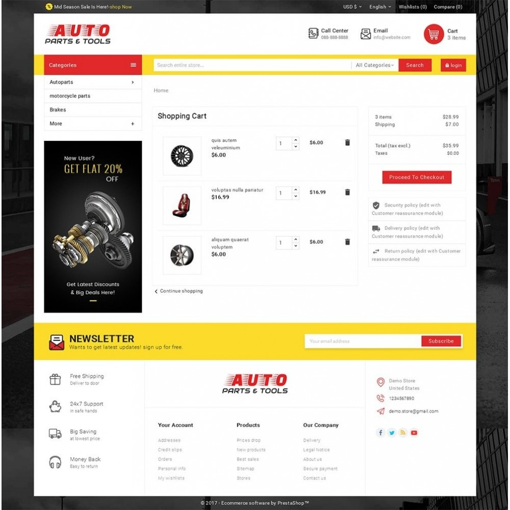 theme - Autos & Motorräder - Auto Parts Mega Store - 7
