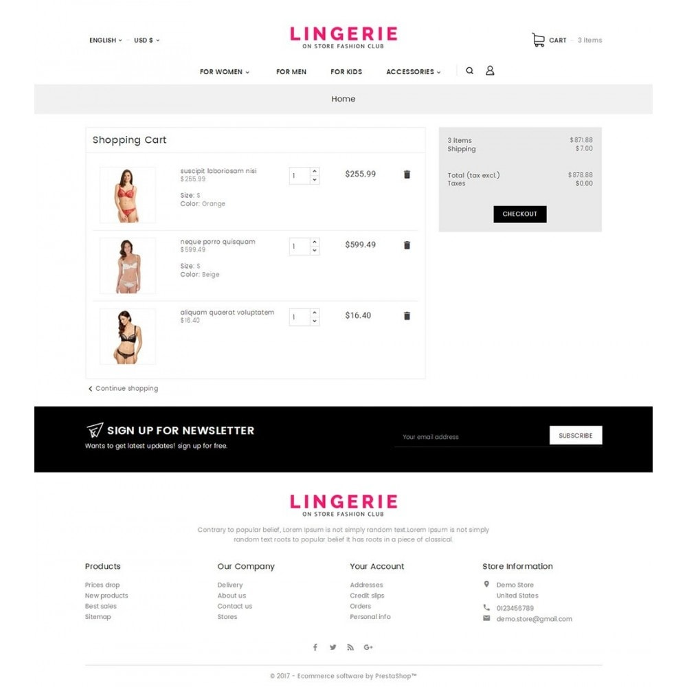theme - Lingerie & Adulti - Lingerie Shop - 2
