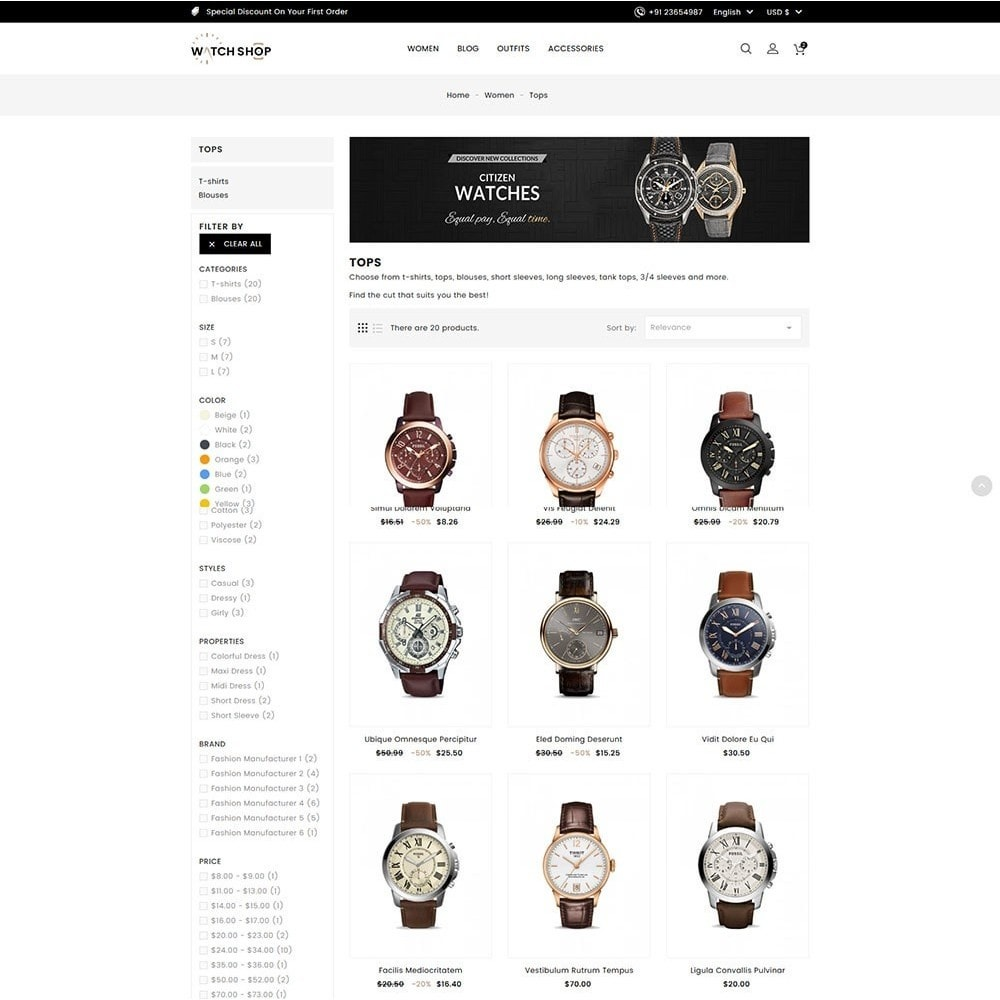 theme - Jewelry & Accessories - Watch Shop - 4