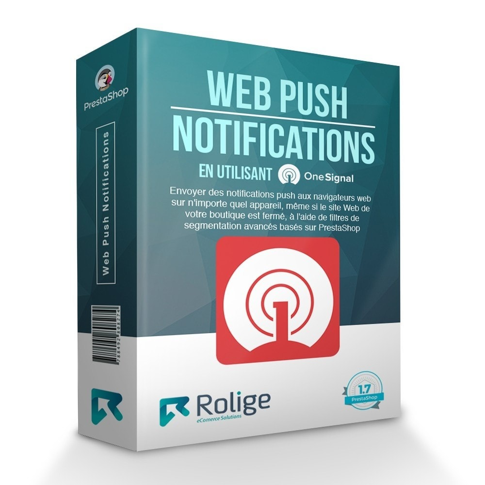 module - Remarketing & Paniers Abandonnés - Notifications Push du Navigateur Web avec OneSignal - 1