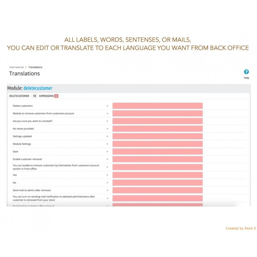 module - Legale (Legge Europea) - GDPR Cancellazione account cliente con opzioni avanzate - 8