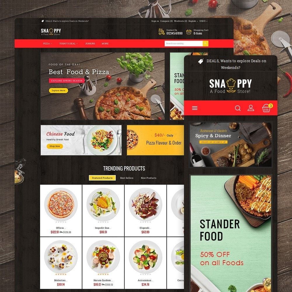 theme - Lebensmittel & Restaurants - Restaurant & Snacks Food - 2