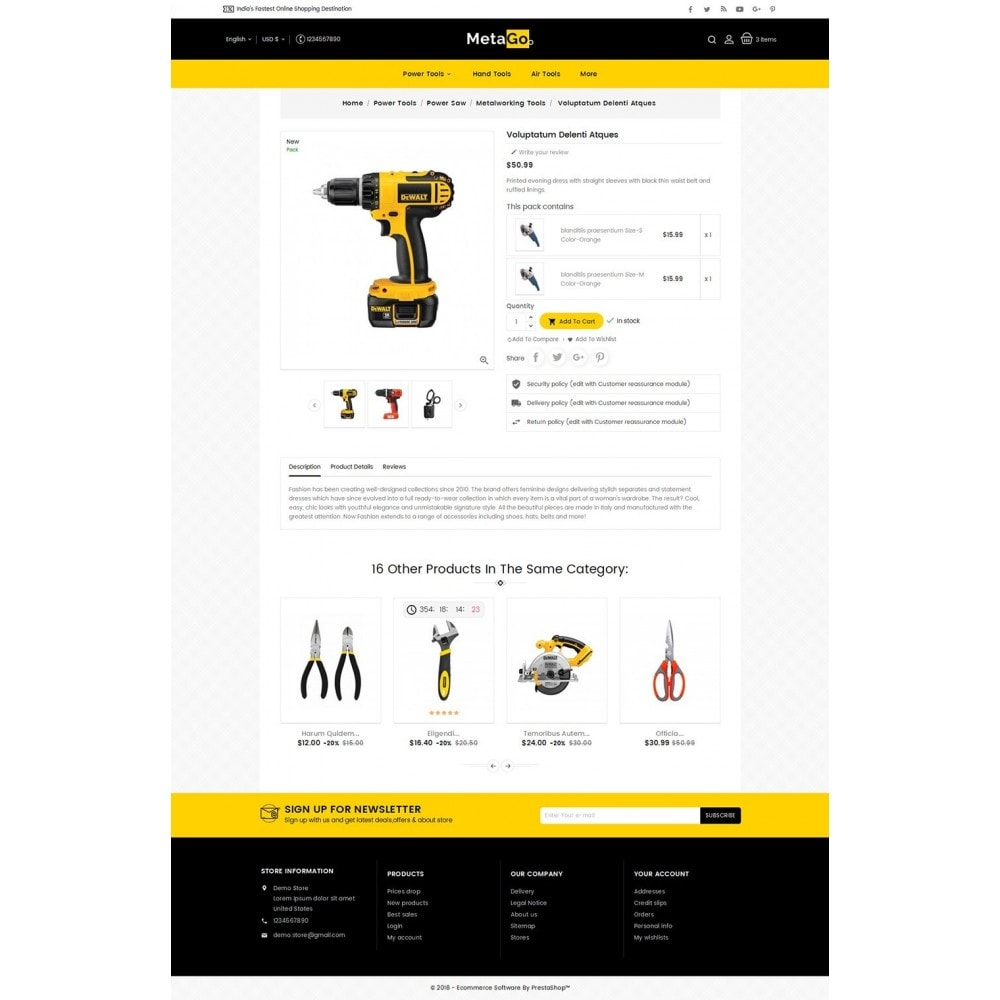 theme - Maison & Jardin - Melano Power Tools - 6