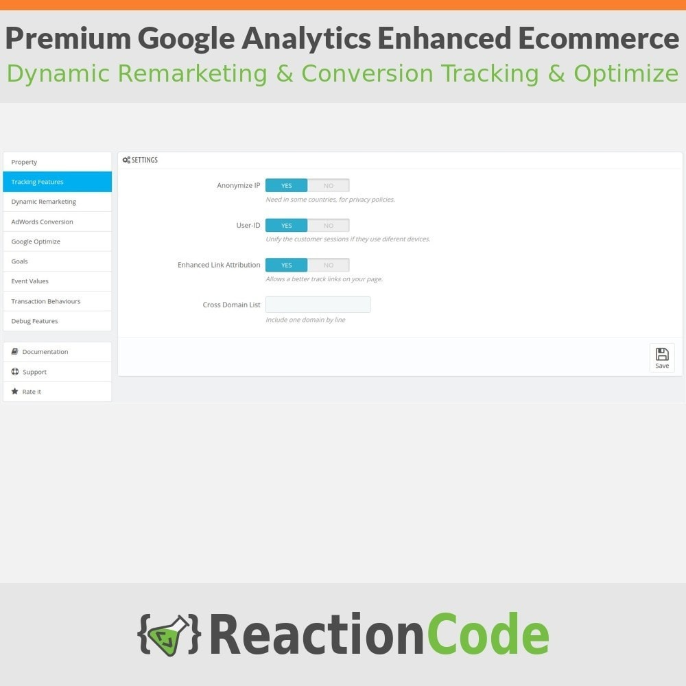 module - Analyses & Statistiques - Premium Google Analytics Enhanced Ecommerce - 3