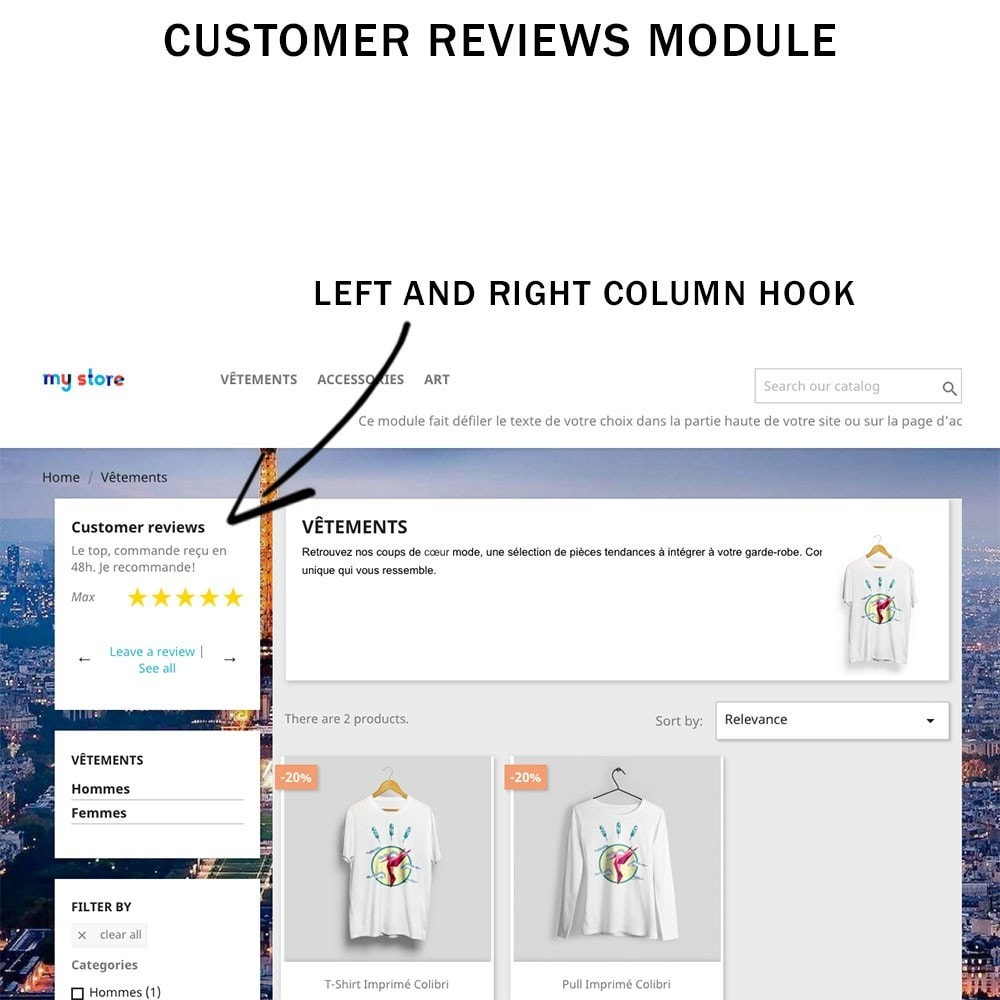module - Comentarios de clientes - Customer reviews + Ratings + Reviews Rich Snippets - 1