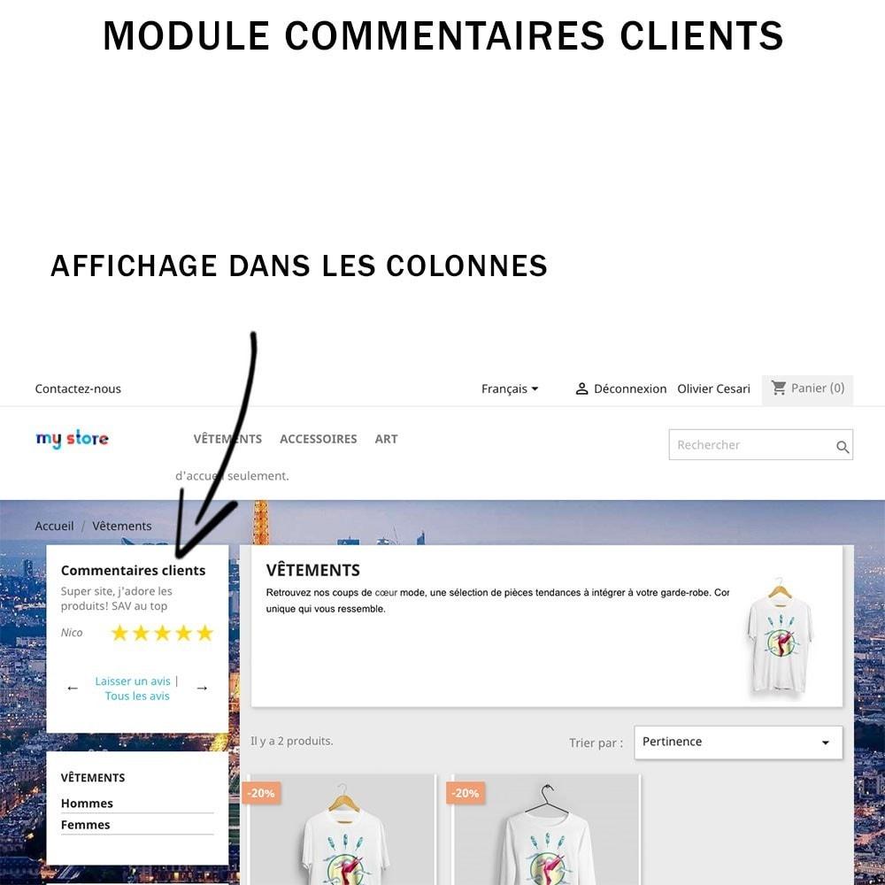 module - Avis clients - Commentaires clients + Note + Avis Rich Snippets - 1