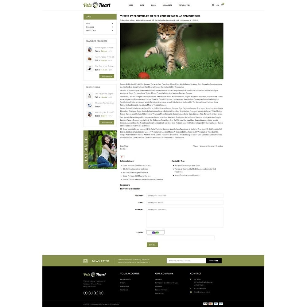 theme - Animais - Pets Heart Store - 6
