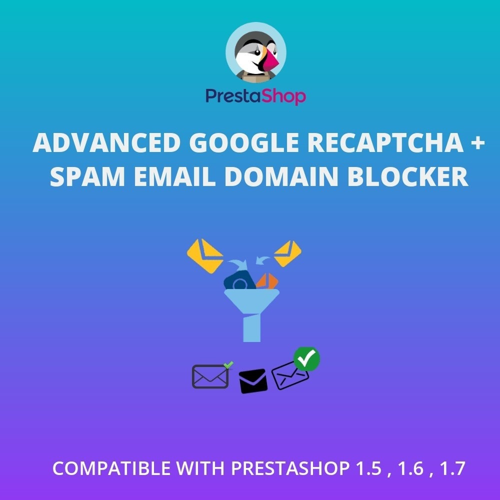 module - E-mails & Notifications - Advanced Google reCAPTCHA + Spam Email Domain Blocker - 1
