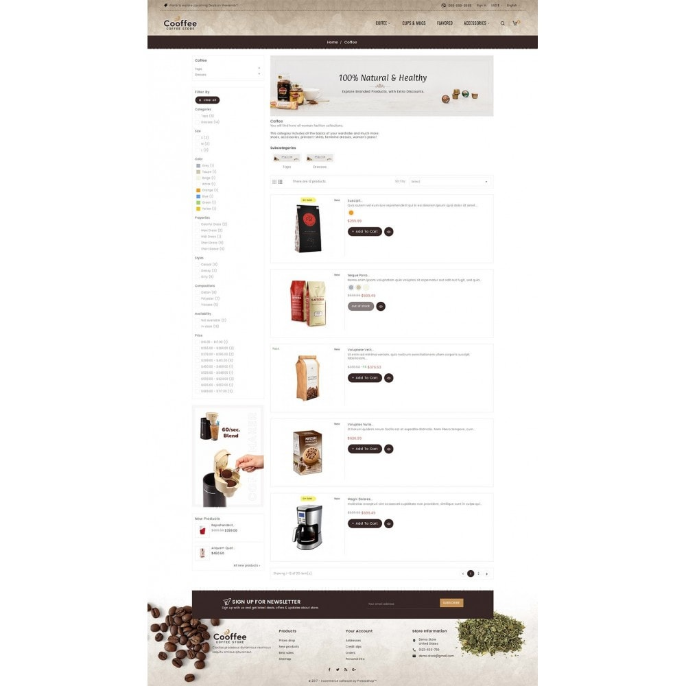 theme - Boissons & Tabac - Cold Coffee Store - 5