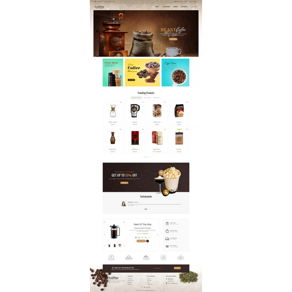 theme - Drink & Wine - Cold Coffee Store - 3