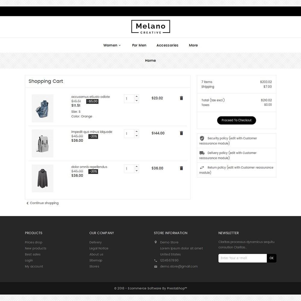 theme - Mode & Chaussures - Melano Creative Fashion - 7