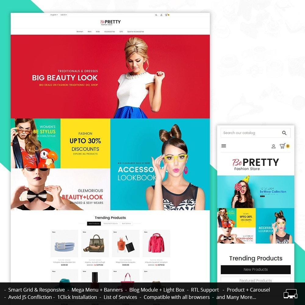 theme - Moda y Calzado - BePretty Fashion Store - 2