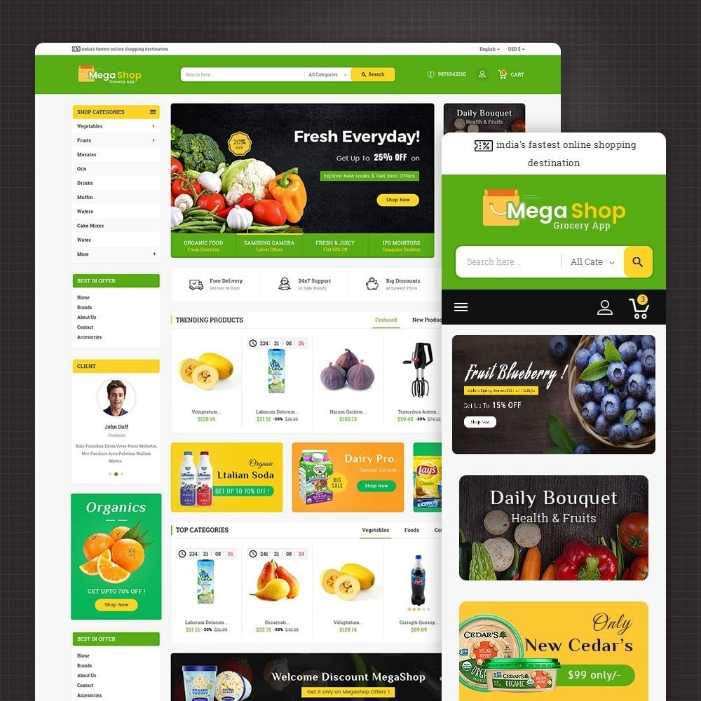 theme - Alimentation & Restauration - Mega Grocery Shop - 2