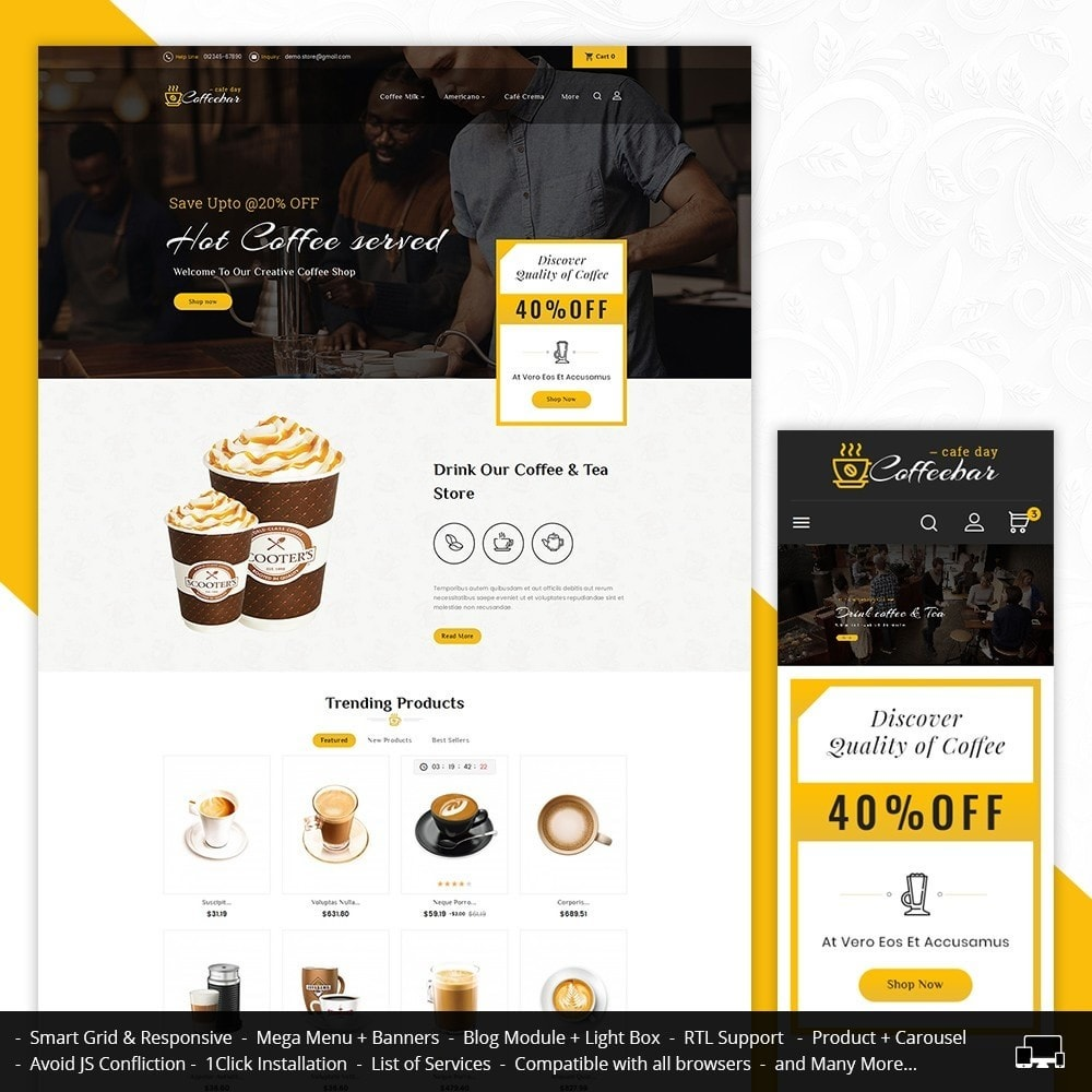theme - Food & Restaurant - Coffee Bar - 1