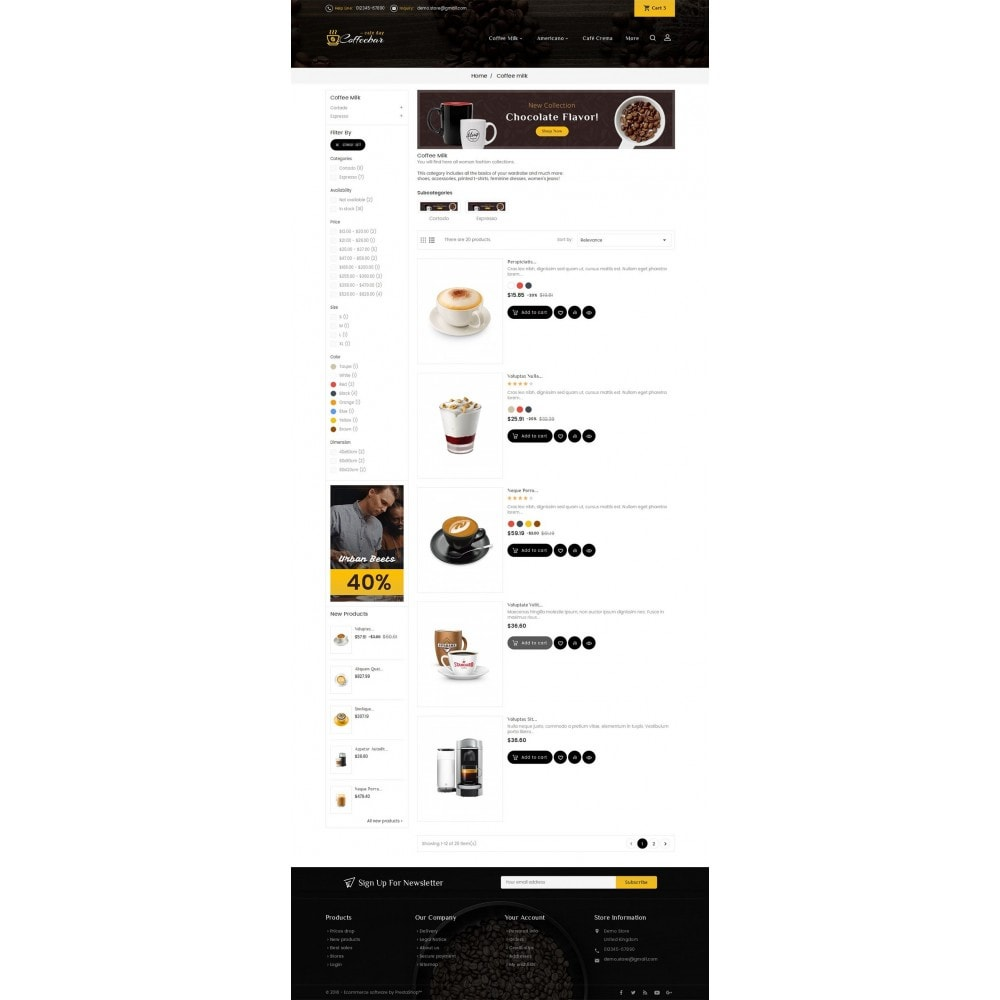 theme - Food & Restaurant - Coffee Bar - 4