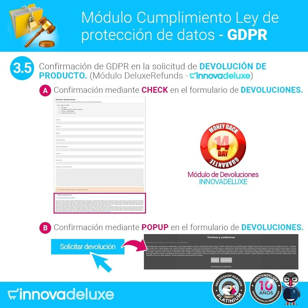 module - Marco Legal (Ley Europea) - Cumplimiento Ley de protección de datos - RGPD - 8